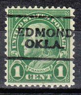 USA Precancel Vorausentwertung Preo, Locals Oklahoma, Edmond 632-701 - Vereinigte Staaten