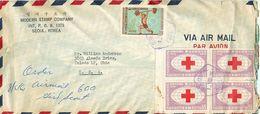 TIMBRES ENVELOPPE COREE DU SUD SEOUL ENVELOPPE TIMBRES _USA CROIX ROUGE VOIR IMAGES - Korea (...-1945)