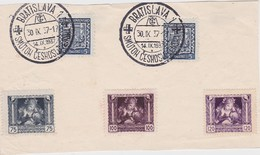 TCHECOSLOVAQUIE 1937 DEVANT DE LETTRE DE BRATISLAVA - Cartas