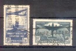 FRANCE YVERT NRS. 320 ET 321 OBLITERES PLUS DE 180 EUROS COTATION AVEC CERTIFICATIONS D'EXPERTS - 1932-39 Peace
