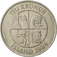 Iceland, 10 Kronur, 1984, TTB, Copper-nickel, KM:29.1 - Islandia