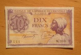 Banque De L'Afrique Occidentale 10 Francs 1943 - West African States