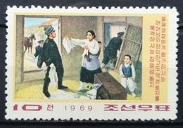 Korea North DPR 1969 MNH Kang Pan Sok Fighting With Japanese Police - Korea (Noord)