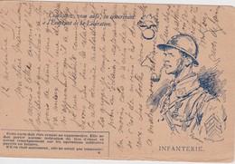 FRANCE 1917 CARTE DE FRANCHISE MILITAIRE - Tarjetas De Franquicia Militare