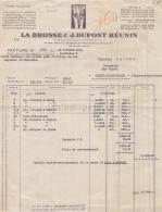 75 18 714 PARIS SEINE 1942 Maison LA BROSSE - DUPONT ( Labrosse) Bd Malesherbes USINE  A  BEAUVAIS RENNES NOGENT DINAN - 1900 – 1949