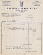 75 18 715 PARIS SEINE 1955 Maison LA BROSSE - DUPONT ( Labrosse) Bd Malesherbes USINE  A  BEAUVAIS RENNES NOGENT ( DINAN - 1900 – 1949