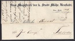 "TCHECOSLOVAQUIE - 1849 - Document ""Magistrature Du Roi Mahr. Neuftadt"" - B/TB - - Tchécoslovaquie"