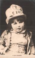 J'SUIS VEINARD ENFANT AU CHAPEAU A L'AIR MALICIEUX CARTE PRECURSEUR CIRCULEE - Scènes & Paysages