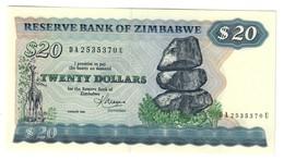 Zimbabwe 20 Dollars 1983 UNC - Zimbabwe