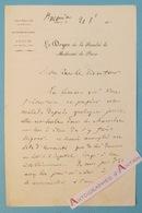L.A.S Pierre-Honoré BERARD Médecin - Lichtenberg - Hôpital Saint Antoine Lettre Autographe Doyen Faculté Médecine Paris - Autografi