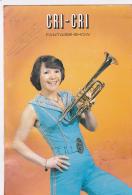 Carte Publicitaire Dédicassée - CRI-CRI Artiste De Variétés - Chanteuse Trompettiste - Fantaisie-Show - Déformations - Musique Et Musiciens