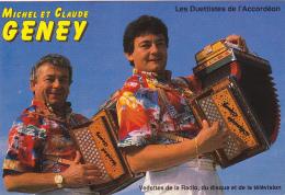 Carton Publicitaire Format CPM - Fadiese Musique - Michel Et Claude Geney & Edelweiss, La Fouly (Val Ferret) - Other