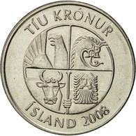 Iceland, 10 Kronur, 2008, TTB+, Nickel Plated Steel, KM:29.1a - Iceland