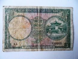 SUD VIETNAM BILLET DE 1 MOT DONG N° 730000 - Vietnam