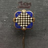 Badge (Pin) ZN006665 - Chess (sah) Czechoslovakia UJCS Federatioan / Association / Union - Pin