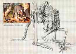 """Entier Postal De 2008 D'Australie Sur CP Avec Timbre Et Illust. """"Faune Géante Disparue - Procoptodon Goliah"""" - Préhistoriques"""