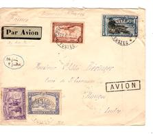 TP 173-178-TPA 3-12 S/L.Avion Via Imerial Airways&Ouganda  C.Costermansville 22/6/1935 V.Bouges France 1724 - Congo Belge