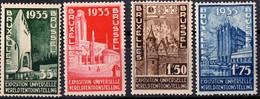 PIA - BEL - 1934 : Francobolli Di Propaganda Dell' Esposizione Universale Del 1935 A Bruxelles - (Yv 386-89) - 1935 – Brussels (Belgium)