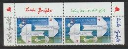 Post! Grußmarke: Papierflugzeuge Mit Grußbotschaft. /  MiNr.: 2387 (2 Marken) - BRD