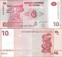 Congo DR 2003 - 10 Francs - Pick 93 UNC - Democratic Republic Of The Congo & Zaire