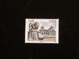 FRANCE YT 4802 OBLITERE CACHET ROND MANUEL - BERNARD DE CLAIRVAUX - FONTAINE LES DIJON COTE D OR - France