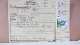 BRD-VGO: TELEGRAMM-Aufnahmeformular Vom 29.4.91 Mit 200(2) Frauen Und 80 Pf So-M Aus 7901 KOSSDORF Nach VGO Knr: 1498ua. - [7] République Fédérale