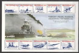 Z164 GUYANA WORLD WAR 2 TARGET PEARL HARBOR 1KB MNH - 2. Weltkrieg