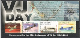 Z165 ST.VINCENT MILITARY & WAR TRANSPORTATION 60TH ANNIVERSARY OF VJ DAY 1KB MNH - 2. Weltkrieg