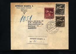 Chile  Interesting Registered Airmail Letter - Chile