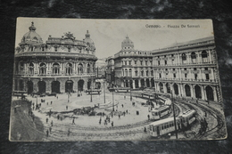 1726  Genova   Piazza De Ferrari    Tram   1927 - Genova (Genoa)