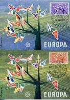 EUROPA CEPT FRANCE 1962 CARTE MAXIMUM YVERT N° 1358/59 - 1962