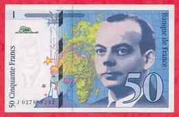 "50 Francs ""St Exupéry"" 1994 N °J.027886232 -----XF/SUP+ - 1992-2000 Last Series"