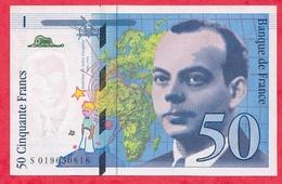 """50 Francs """"St Exupéry"""" 1994 N °S.019650818 -----AU.UNC/SPL+ - 1992-2000 Last Series"""