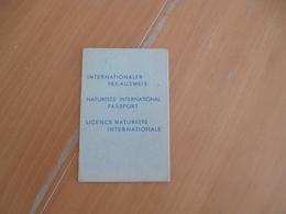 Rare Passeport International Licence Naturiste Club Au Soileil Paris - Historical Documents
