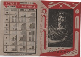 Dépliant Publicitaire Deux Volets / Loterie Nationale/Moliére/ Le Théatre En France/ Novembre 1946   LOT14 - Lottery Tickets
