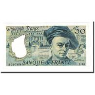 France, 50 Francs, 50 F 1976-1992 ''Quentin De La Tour'', 1987, SPL - 1962-1997 ''Francs''