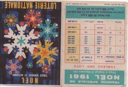 Dépliant Publicitaire Deux Volets / Loterie Nationale/Noël/ 22 Décembre 1961   LOT13 - Lottery Tickets