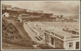 Putting Green & Porthminster Beach, St Ives, Cornwall, 1937 - W H Smith RP Postcard - St.Ives
