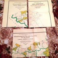 ALGERIE- CARTES LIMITES ADMINISTRATIVES-ALGER-ORAN-CONST-CARTE COLONIALE FRANCAISE - Geographical Maps
