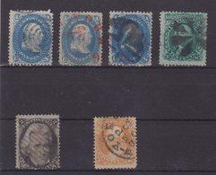 ETATS-UNIS : 6 EX . OBL . AB . 1861/66 . - 1847-99 General Issues
