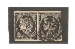 France N°3 En Paire Oblitéré 1728 - 1849-1850 Ceres