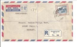 Registered Airmail Letter Khartoum>Düren Deutschland - Sudan (1954-...)