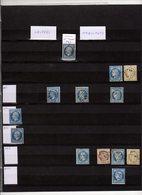 Belle Collection De 547 Griffes Ambulants Baton Détachés (1853 à 1876)   Cote Mathieu 39000 Fr 1934 = 8100 Eu 2016 - Poststempel (Einzelmarken)