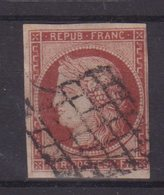 FRANCE : N° 6 A . ROUGE BRUN . UNE MARGE COURTE . FILET INTACT . SIGNE CALVES . 1849 . - Marcophilie (Timbres Détachés)