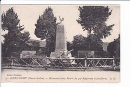 9 - HERICOURT - Monument Aux Morts Du 47è Régiment D'Artillerie - D.D - Francia