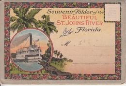 Old Souvenir Folder - Florida St. John's River - 18 Views - Good Condition - 4 Scans - United States