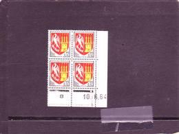 N° 1353A - 0,12F Blason D'AGEN - B De A+B - 2° Tirage Du 15.5.64 Au 5.8.64 - 10.06.1964 - - 1960-1969