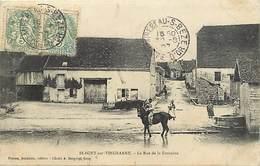 Ref 1034- Blagny Sur Vingeanne - Cote D Or - La Rue De La Fontaine  -/ Carte Décollée - Voir Description - - Andere Gemeenten