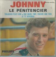 """45 Tours EP - JOHNNY HALLYDAY - PHILIPS 434955 - """" LE PENITENCIER """" + 3  ( 1er Pochette ) - Other - French Music"""