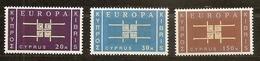 1963 Cipro Cyprus EUROPA CEPT EUROPE Serie Di 3v. MNH** - Europa-CEPT